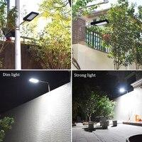 BY DHL New Solar Street Light Outdoor LED Solar Lamp Waterproof Security Radar Motion Sensor 2100lm Garden Lighting Super Bright