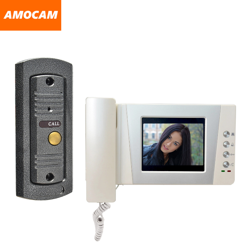 4.3 Telephone Monitor Video Door Phone Doorbell System Video Intercom IR Night Vision pinhole Camera Video Doorphone kit 9 big monitor video door phone doorbell system video intercom ir night vision door alloy camera video doorphone ui interface page 6
