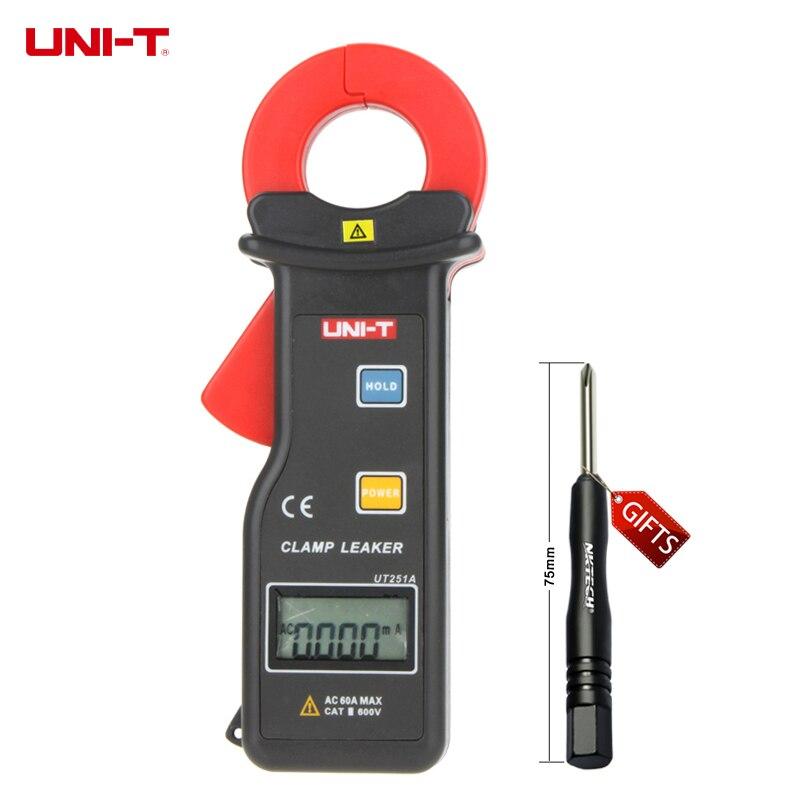 UNI-T UT251A Ampèremètre Multitester 10000 Compte RS-232 Haute Sensibilité Du Courant de Fuite Pince Mètres w/99 D'enregistrement Des Données