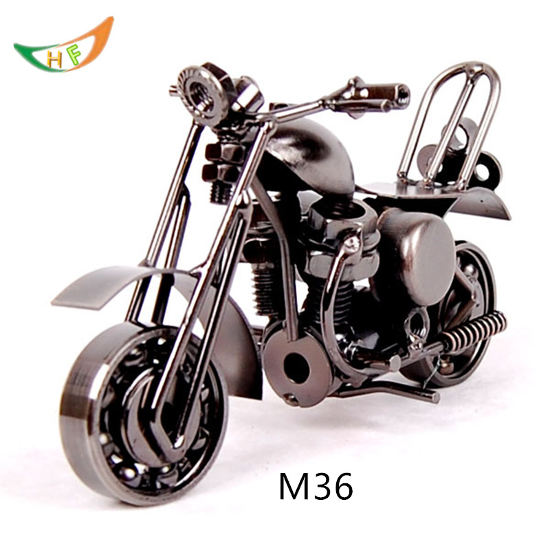 Diy Creative Metal Car Harley Motorcycle 1 12 Wrought Iron