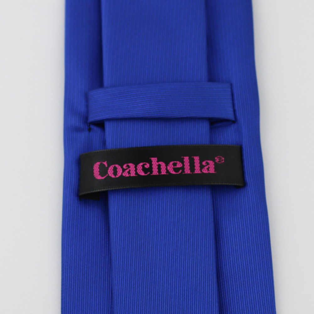 Coachella Dasi Navy Blue Knot Kontras Royal Biru Tie Dasi Formal Neck Tie 8.5 cm