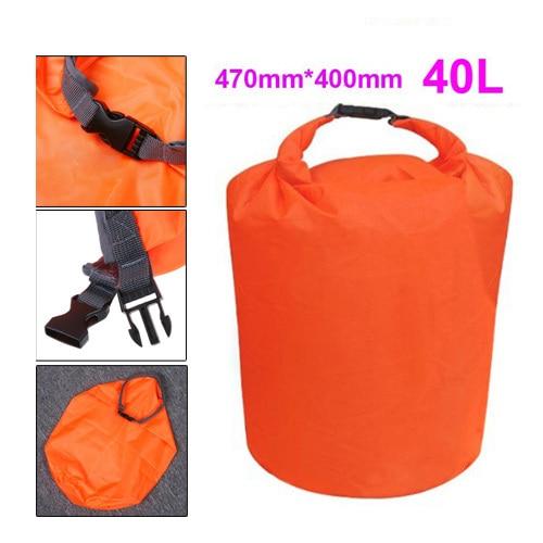 5 pcs (2016 estilo hot orange 40l terylene waterproof dry bag para canoe kayak rafting