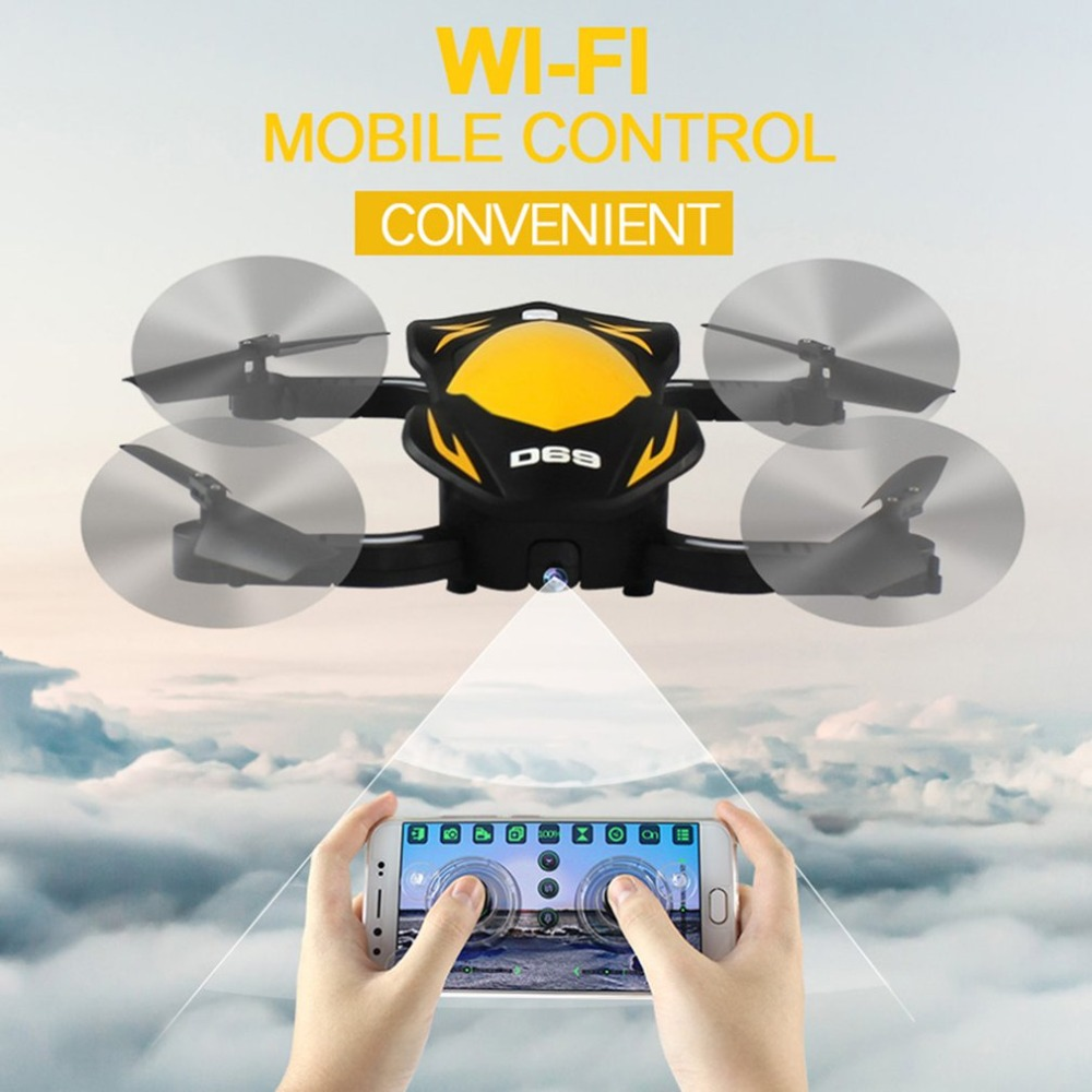 D69 Drone with Camera 3.0MP 2.4Ghz RC Control Wifi FPV Holding Quota Folding Gravity Sense Control Fixed Height RC QuadcopterD69 Drone with Camera 3.0MP 2.4Ghz RC Control Wifi FPV Holding Quota Folding Gravity Sense Control Fixed Height RC Quadcopter