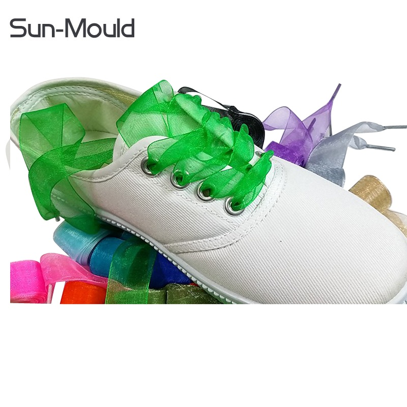 New Metallic yarn man women sport run shoes lace flats shoelaces strap you can customized any length 500pairs/lot Via DHL EMS christmas snowflake velvet wide choker necklace