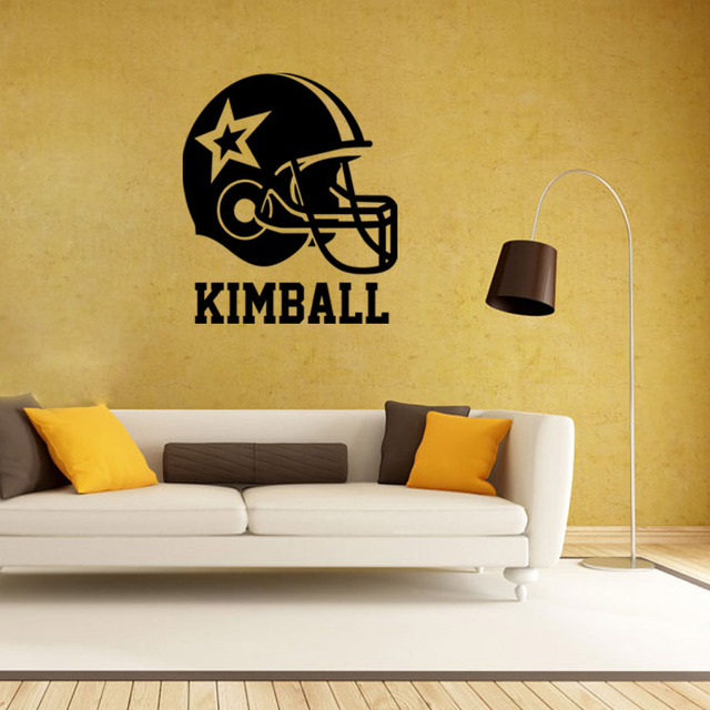 4048 American Football Helmet Wall Stickers Home Decor Boys Bedroom ...