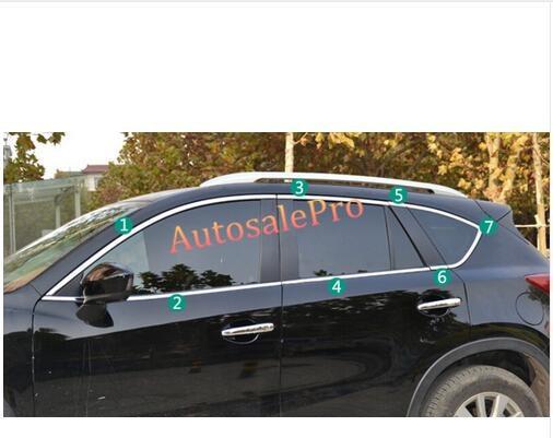 Mazda CX-5 2015 2014 2013 2016 üçün üst + alt polad pəncərə - Avtomobil ehtiyat hissələri - Fotoqrafiya 2