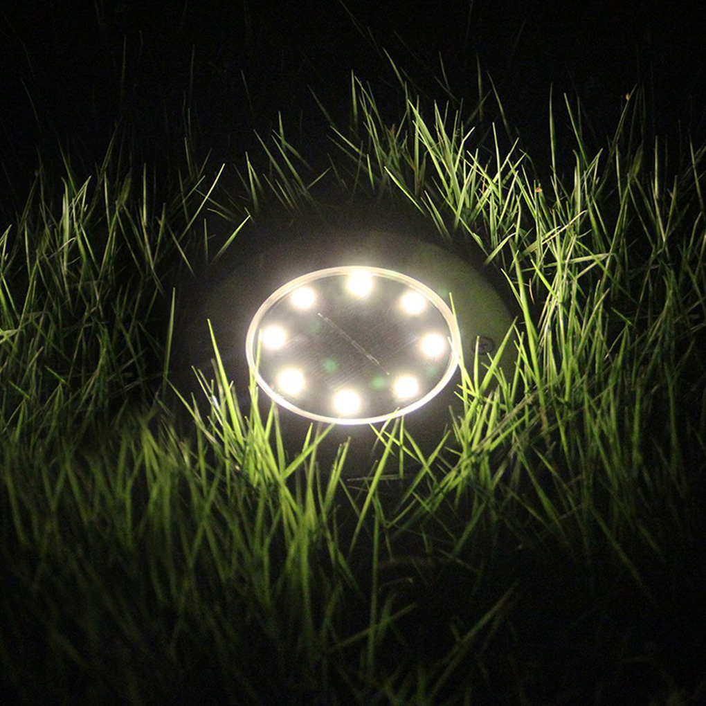 4PCS 8 LED Outdoor Solar Garden Ground Light Landscape Waterproof Security Lamps Pathway Yard Floor Light LED Underground Lamps     - title=