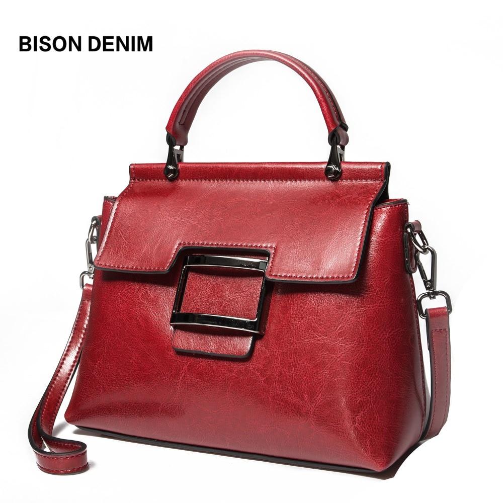 BISON DENIM Leather Women Bag