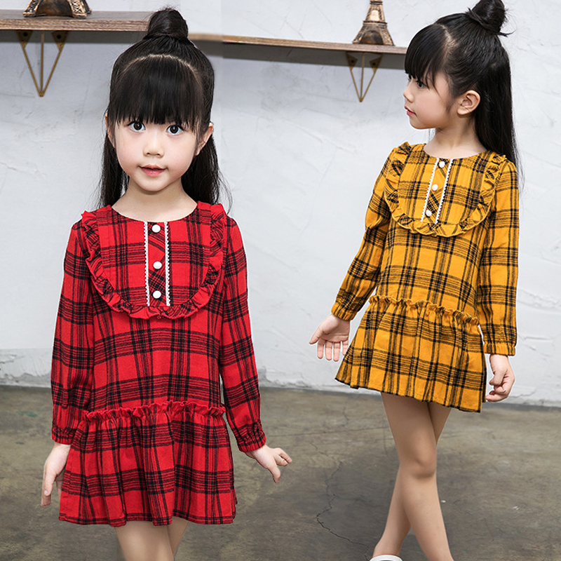 new arrival kids girls plaid dress little girls long sleeve dresses spring 2018 girls autumn dress size 2 3 4 5 6 7 8 9 10 years 2 3 4 5 6 7 8 years girls dress thick velvet autumn winter kids dresses for girls ruffles long sleeve children princess clothing