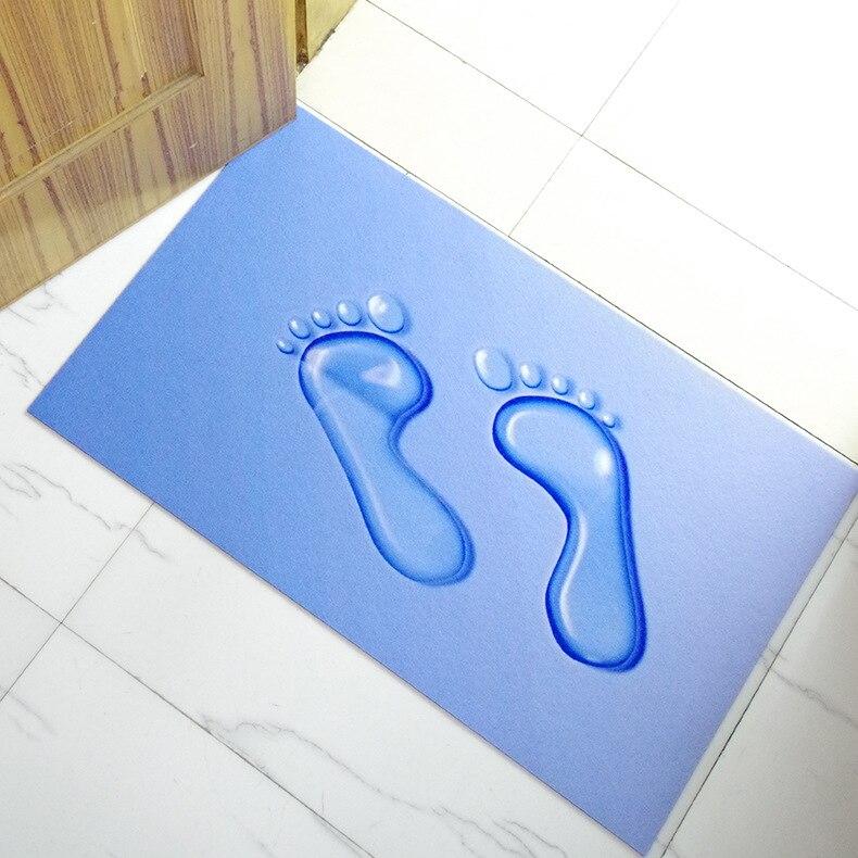 Water Foot Rubber Mats 3d Feet Waterproof Antiskid Bathroom Doormat Door Mat 45 75cm Rub Soil