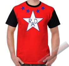 Camisa de verão de verão t camisa masculina camisetas rad filme cru jones estrela impressa feminina engraçado camiseta de manga curta casual tshirts