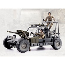 1/18 World Peacekeepers MILITARY BUGGY and 2 soldiers action figures Military model toy anime figure kids toys for children цена