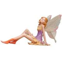 Originalidad Hogar decoración del Equipamiento Artesanías ángulo estatuilla Ornamento Precioso Cupido muñeca Hada de las Flores de Resina Pequeños adornos