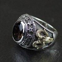 Таиланд Импорт, натуральная GV Новый Кабошон для мужчин 925 серебряное кольцо