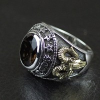 Thailand imports, genuine GV new Cabochon men 925silver ring