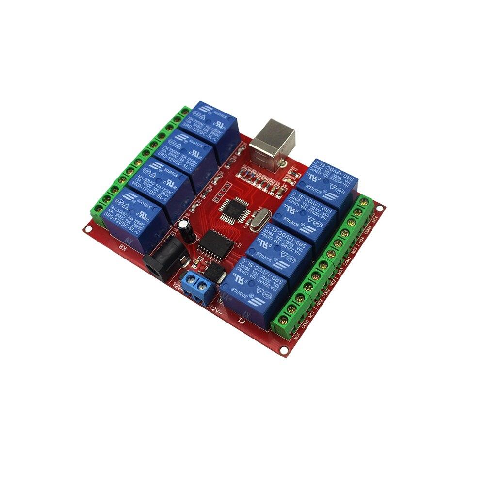8-канальный 12 В реле Модуль/USB компьютера Управление коммутатора/бесплатно драйвер/pc интеллектуальное Управление;