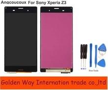 Angcoucoux ремонт Запчасти ЖК-дисплей Дисплей для Sony Xperia Z3 ЖК-дисплей Сенсорный экран планшета Ассамблеи Замена для смартфонов Sony Z3