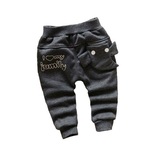 Elefante dos desenhos animados mais grossa de veludo quente crianças harem pants 2016 moda inverno das crianças calças de algodão 0-2 anos de menino/calças meninas