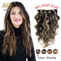 7A Grade 100% Virgin Water Wave Clip In Human Hair Extensions Wave Eruopean Virgin Clip In Hair Extensions Human Hair Full Head