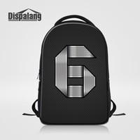 Dispalang Brand Large Capacity Laptop Backpack Men Travel Bags Personality Number Six Printing Children School Bag