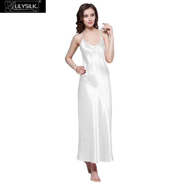 Lilysilk Nightgowns Sleepwear Dress Women 100% Long Silk Elegant ...