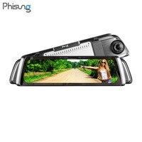 Phisung G05 9,35 WiFi 3G Android 5,0 автомобилей Зеркало заднего вида видеорегистратор Dashcam Авто Full HD 1080p двойной Камера gps видео Регистраторы регистраторы