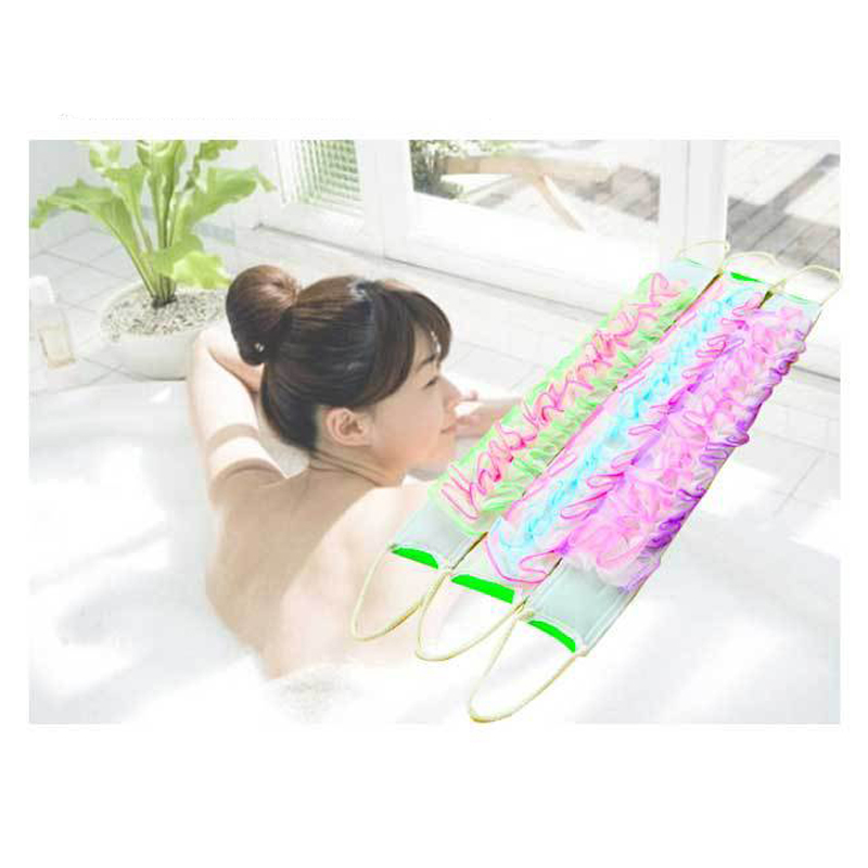10PC Bathroom Products Thickening Flower Rubbin Long Bath Rubbing Bath Brush Towels Accessories Sponge For Body High Quality pink floral towels