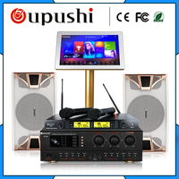 Family Karaoke Party ktv player system 4 TB HD + 10 inch speaker + 19 touch screen w / song + power amplifier free shipping