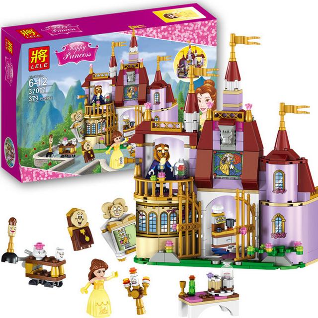 LELE 379 unids de Amigos de Las Niñas Princesa Belle Enchanted Castle Building Blocks Set regalos de Navidad Compatible 41067