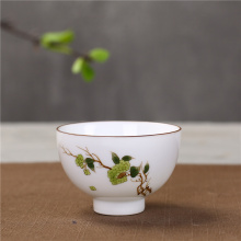 Painted White Porcelain Teacups High Quality Vintage Tea Cups Chinese Ceramic Kung Fu Tea Set Hand Made Tea Bowl high quality chinese tieguanyin tea fresh natural carbon specaily tikuanyin oolong tea high cost effective tea 125g