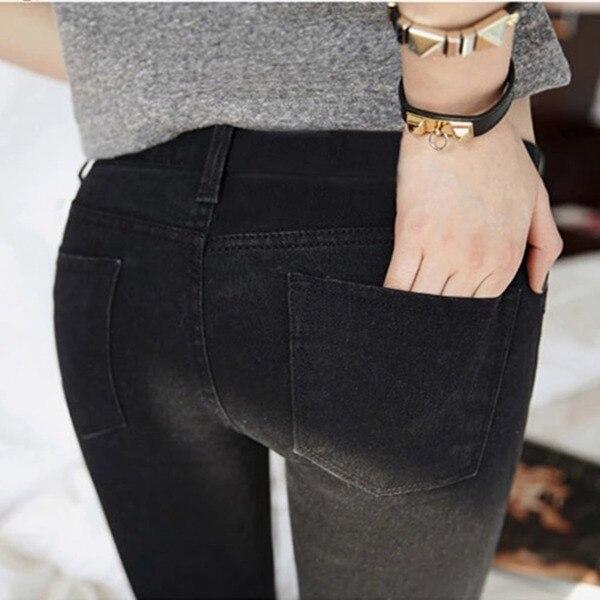 361caf0fc Горячая распродажа карандаш брюки середине американский одежды талии джинсы  падение новых жира стрейч джинсы девочки тонкий