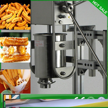 Hot sale stainless steel free shipping Manual Spanish 6L gas fryer churro fryer maker machine
