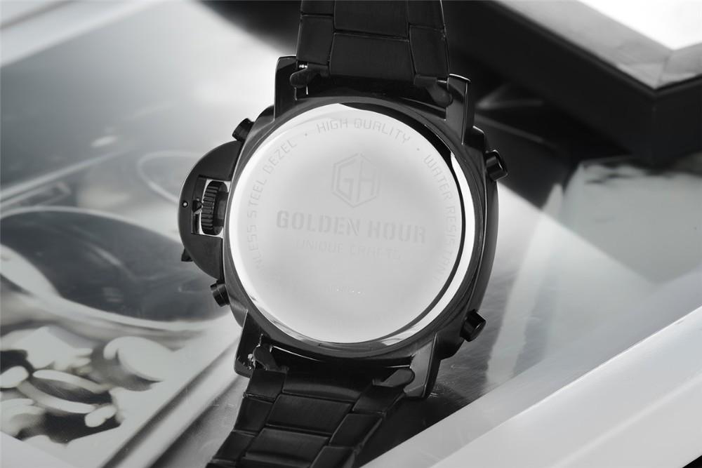 ที่ขายดีที่สุดทั้งหมดสแตนเลสสีดำผู้ชายOriginaฉลามนาฬิกาสไตล์อนาล็อกดิจิตอลปลุกน้ำทนRelógio Masculino 11