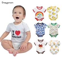 Summer baby boy clothes Pure Cotton Cartoon baby Bodysuit 2019 cute clothing for baby Newborn Girl bodysuits for infants