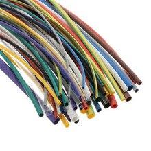 55 יחידות 5 צבע רב גודל Tube חום לכווץ צינורות מבחר פוליאולפין 2:1 הלוגן ללא שרוול גלישת צינורות
