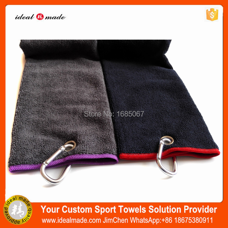 Free Shipping Popular Golf Gift Logo Embroidered Plain Golf Towel ...