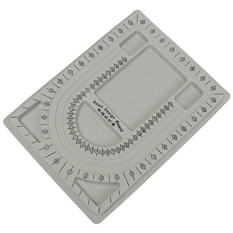 New  Gray Bead Pear Trays Stringing Jewelry Making Craft Design Organizer Board Tool Creative Beading Tray  L