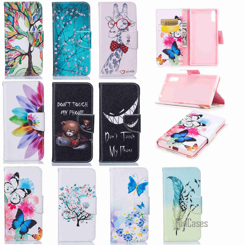 Cuero de lujo para Sony Xperia caja XZS Flip Cover casos para Sony XZ bolsas teléfono protector resistente a la suciedad con tarjeta insertar Funda