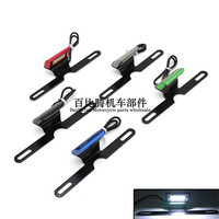 Motorbike LED Turn Signal Indicator Universal Motorcycle Modified Acessories Motorcycle Scooter CNC Licence Plate Brake Lights