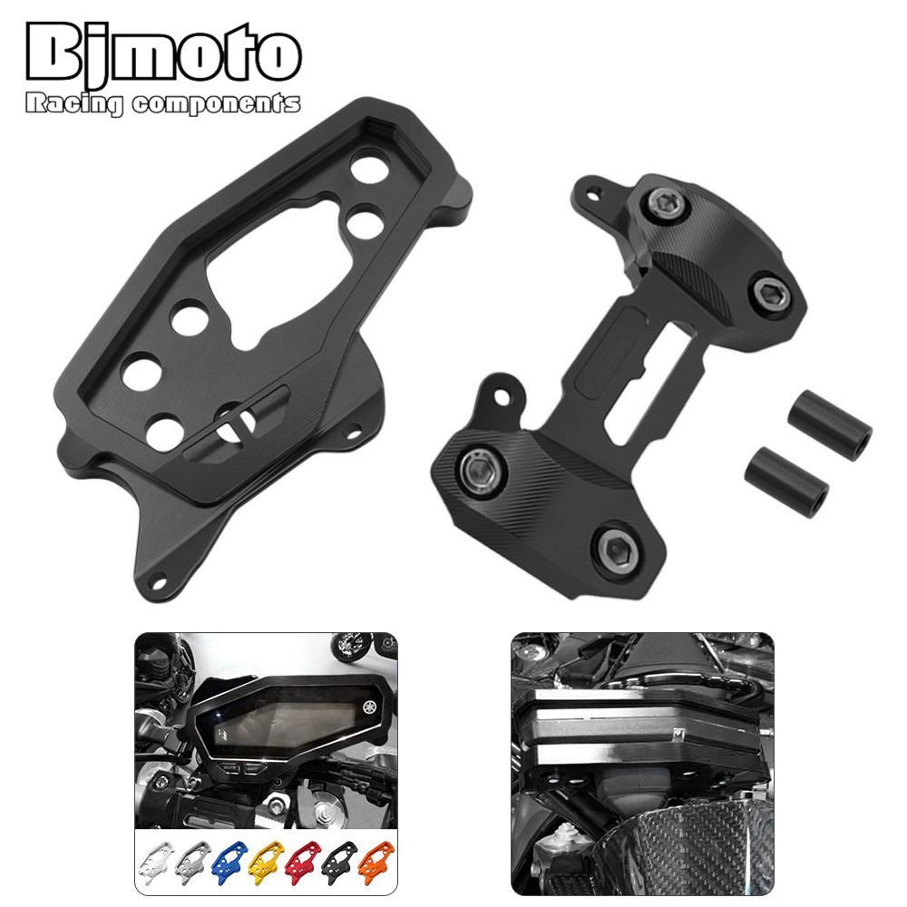 Bjmoto Motorcycle Speedometer Gauges Cover Case Handlebar Fat Bar Risers Mount Clamp For Yamaha MT-09 MT09 2014 2015 2016 2017 kemimoto for ktm duke 125 200 390 2011 2015 motorcycle handlebar drag bar clamp gel grips mount risers kit