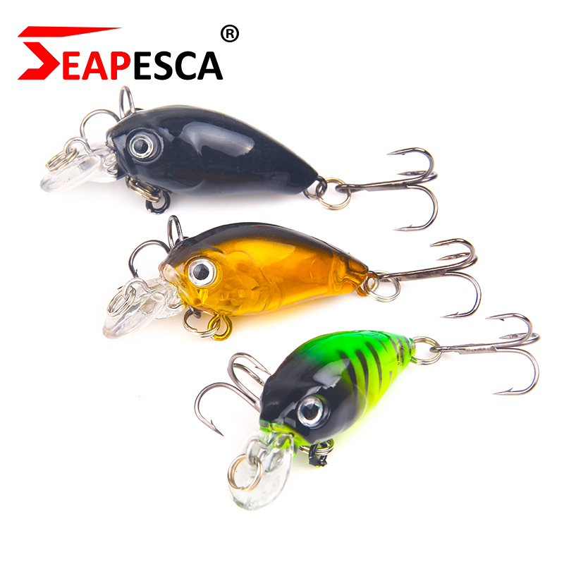 SEAPESCA Hot Professional Fishing Crank Lure 40mm 3.5g Quality Hard Bait for Pike Bass Lifelike Artificial Wobblers Lures YA24