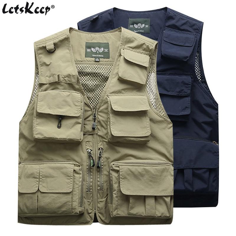 2Pcs/Lot Men Summer Militar Tactical Vests jacket man Outwear Jacket with Multi Pockets Cargo Sleeveless jacket S - 4XL ,M7898