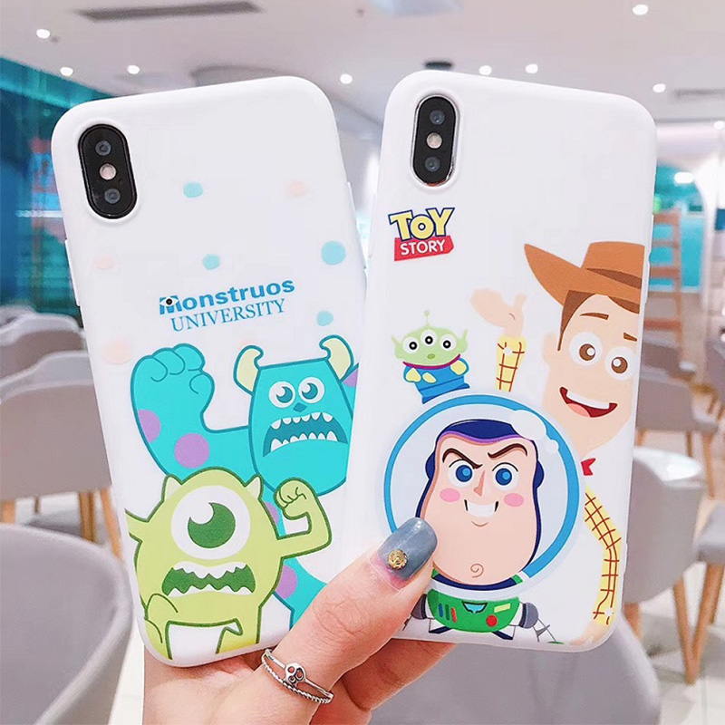 Funny toy story graphic matte soft phone case For iphone X XR XS MAX 6 6S 7 8 Plus soft silicone Phone Case cover coque in Fitted Cases from Cellphones Telecommunications