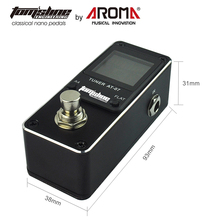 AROMA Guitar Parts AT07 Chromatic Guitar Pedal Tuner True Bypass HD LCD Screen Display Guitar Tuner 4 Flat Pitch 430-450Hz