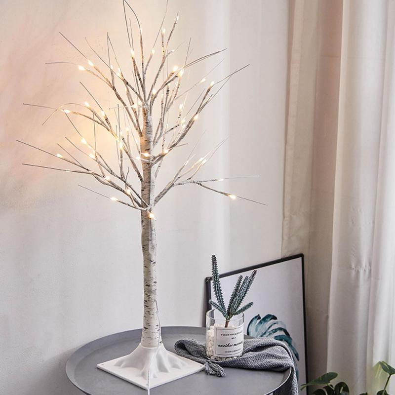 Lighted Twigs Home Decorating: Home Artificial Birch Twig Tree Lights Warm White Light