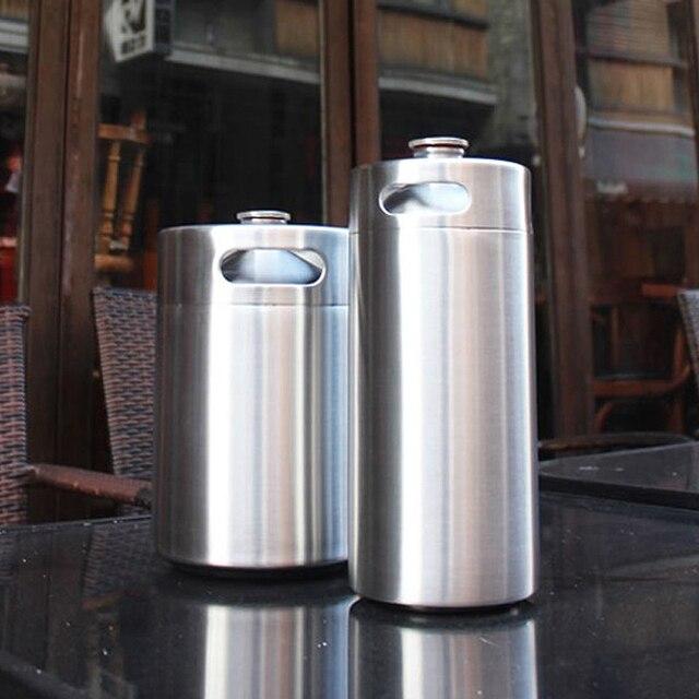 Edelstahl 304 3.6L/2L/5L Mini Fass Bar Bier Homebrew Bier Flasche ...