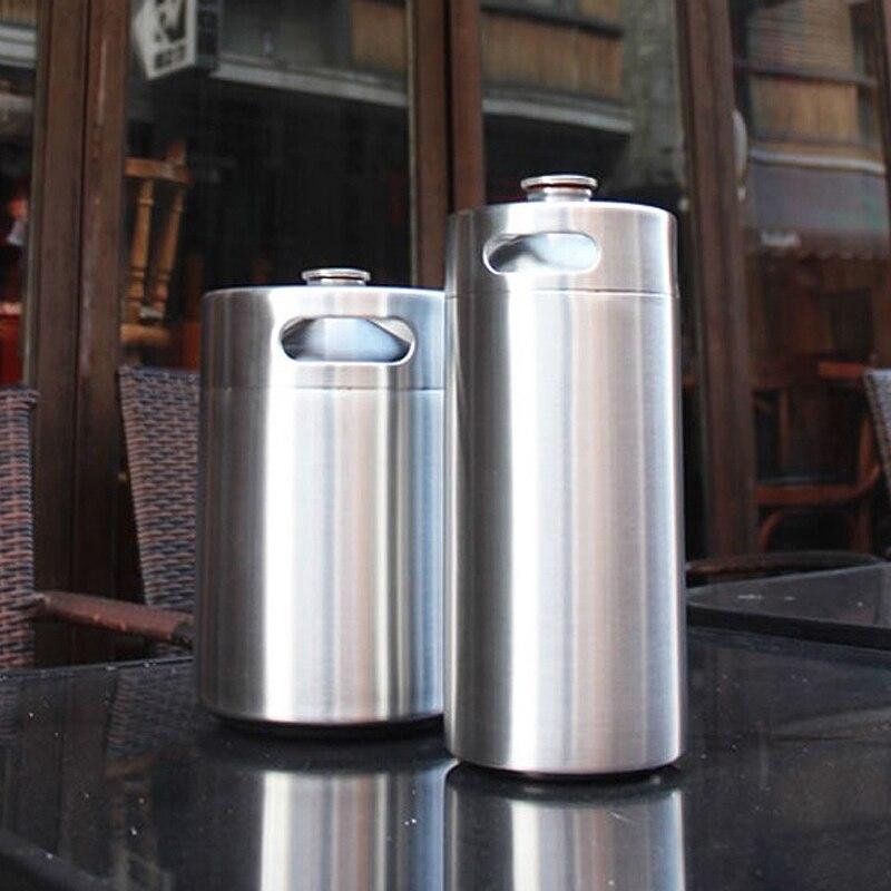 Stainless Steel 304 3 6L 2L Mini Keg Bar Beer Homebrew Beer Bottle Barrels Beer Storage