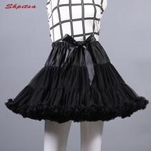 שחור או לבן קצר תחתוניות לחתונה ילדה טול חצאית רוקבילי לוליטה אישה ילדה תחתוניות קרינולינה Pettycoat