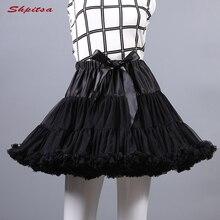 Màu Đen Hoặc Trắng Ngắn Petticoats Cho Đám Cưới Cô Gái Voan Váy Rockabilly Lolita Người Phụ Nữ Cô Gái Tây Nam Không Crinoline Pettycoat