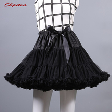 Schwarz oder Weiß Kurze Petticoats für Hochzeit Mädchen Tüll Rock Rockabilly Lolita Frau Mädchen Unterrock Krinoline Pettycoat